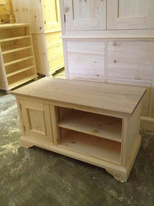 TV Unit MTM with Oak Top as seen in the work shop
