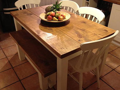 Rustic Table and Bench