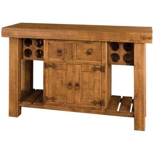 Rustic Island with Wine And Storage POA these can be made to any size and design