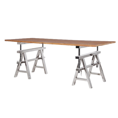 Pine Top Chrome Tressal Table