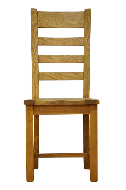 Ladder Back Chair with solid seat
