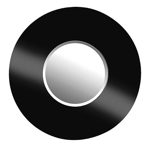 Large Black Circular Mirror Dia 1020