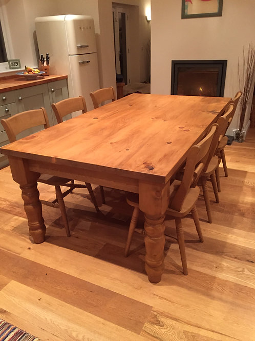 Farm House Table 8ft x 4ft  Made in our workshop