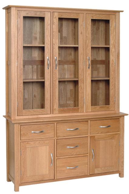 "4ft 6"" Glassed Dresser"