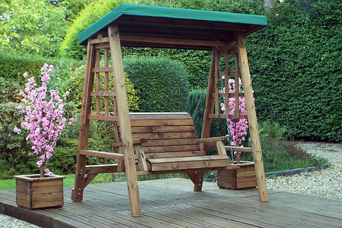 2 Seater Swing Seat with Waterproof Canopy