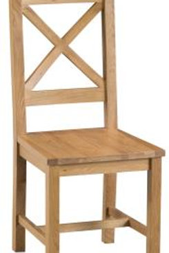 Crossback chair wooden seat