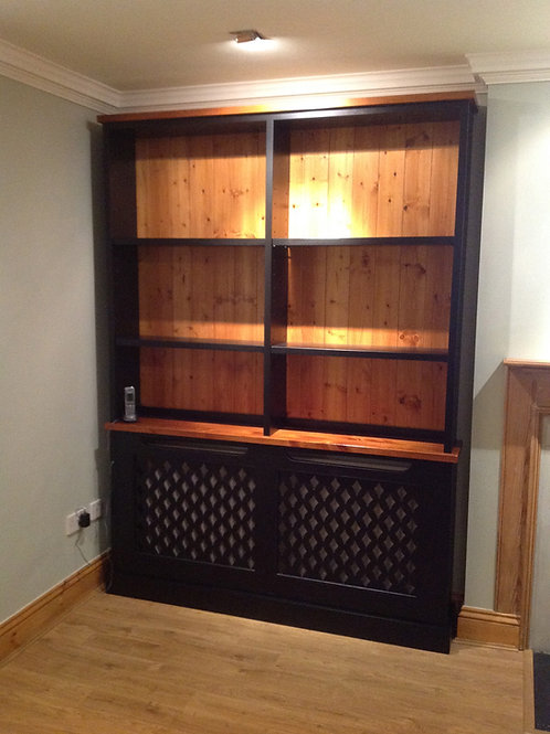Bookcase over a radiator