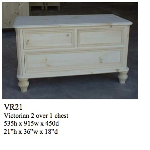 2/1 Victorian Chest/TV Base
