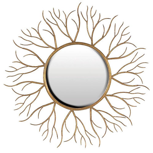 Gold Twig Mirror