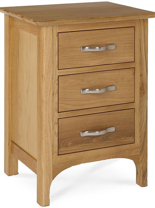 3 Drawer Bedside 670 H x 510 W x 400 D