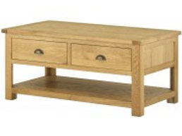 Lincoln Oak 2 Drawer Coffe Table