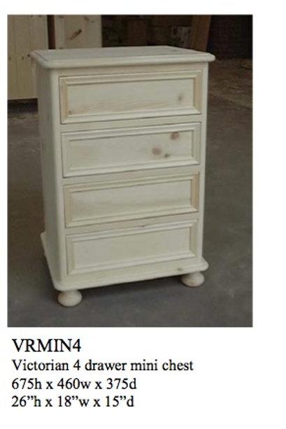 4 Drawer Victorian Bedside