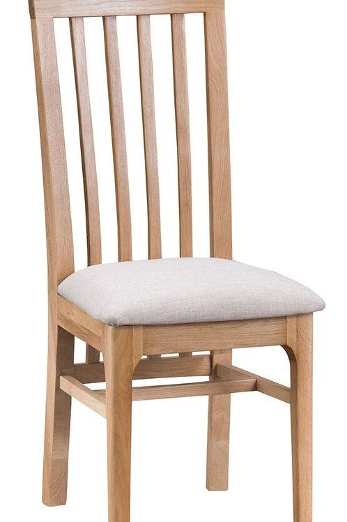 Nidderdale Slat back Oak Fabric seat