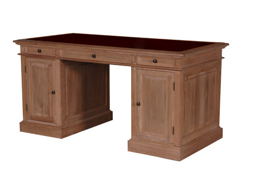 Weather Oak Pedestal Desk H 850 W1600 D800