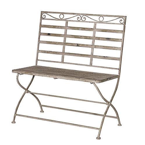 Grey Wash MetaL Bench