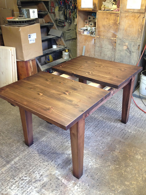 Extending Pine Table, stained to customer's choice