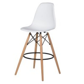 White Seat Bar Stool