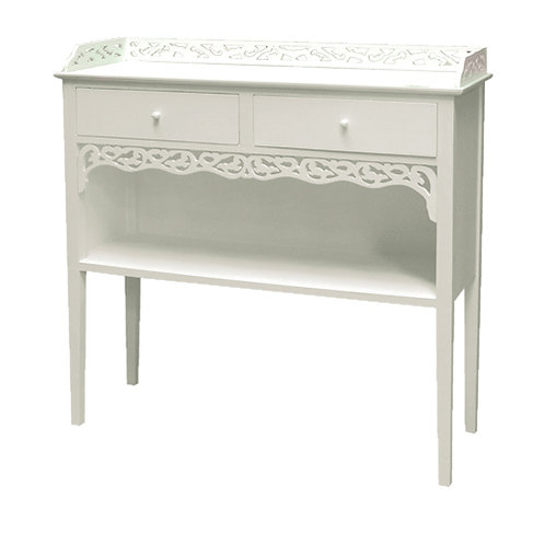 2 Drawer Hall Table - H:800 W:800 D:280mm