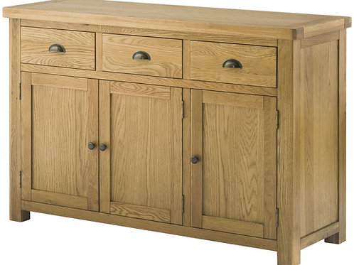 Lincoln Large Oak 3 Door Sideboard