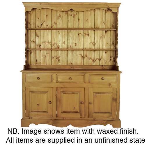 5ft Edwardian Open Dresser