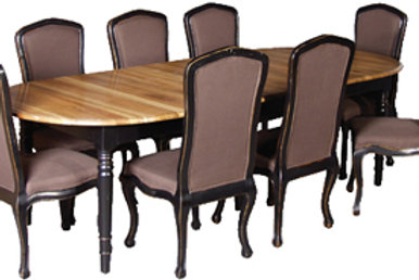 Belle Noir Ext Oak Table H 790 L2310ext W1200