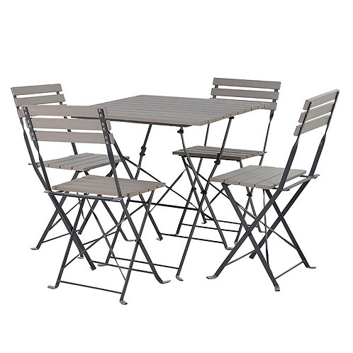 Aluminium Table and Chairs with Polywood