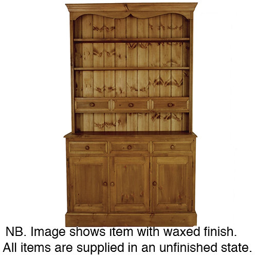 4ft Spice Dresser Hand Waxed Pine