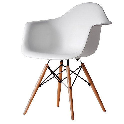 White Moulded Tube Chair