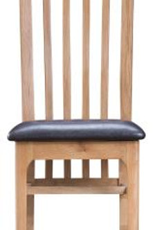 Slat Back Chair Leather