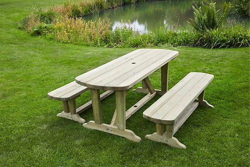 Kent Dinning Table and Benches