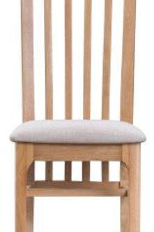 Slat Back Upholstered Chair