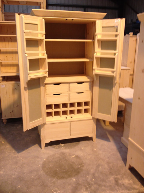 Larder Cupboard with Wine Storage