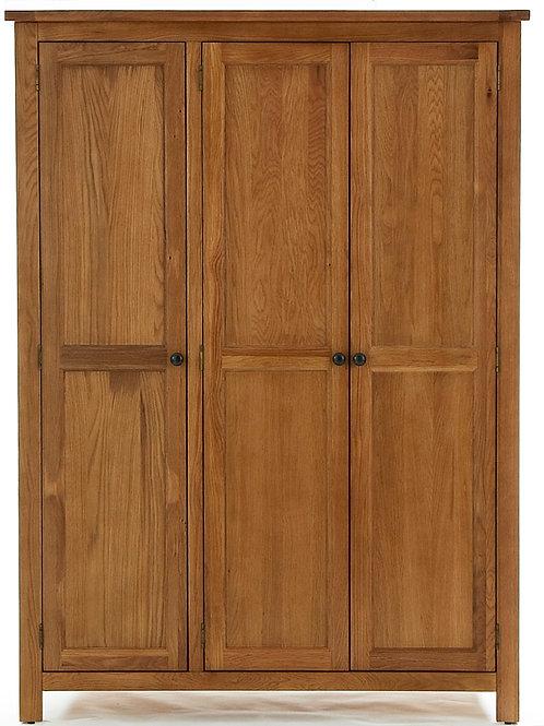 3 Door Wardrobe 135W X 57D X 185H