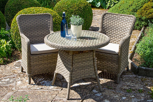 Patagonia 80cm Bistro Table with 2 arn Chairs
