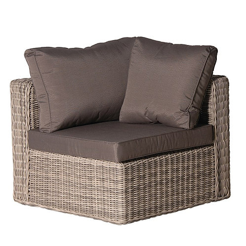Rattan Corner Chair with Cushion