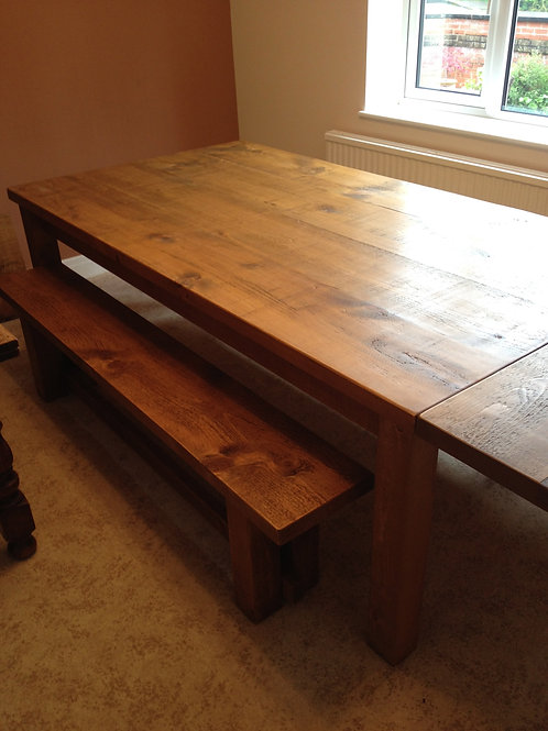 Rustic Table 7ft x 3ft  Extensions Available POA