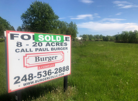Burger & Company announces 20 acre industrial zoned land sold