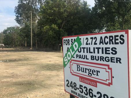 Burger & Company announces 2.72 acre industrial land sold