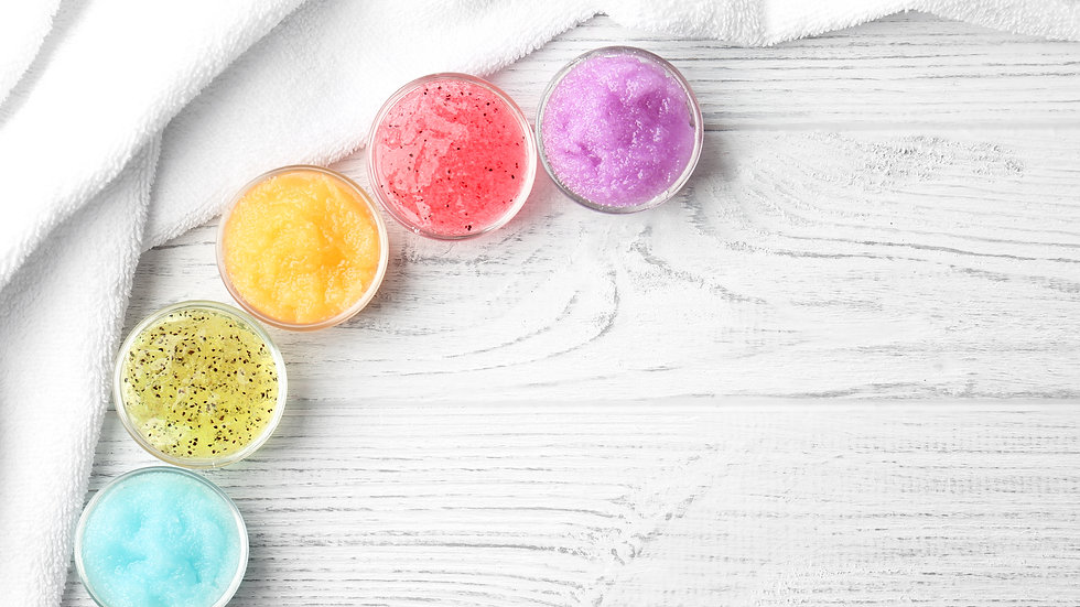 Body Scrubs  with Shea Butter in a variety of scents