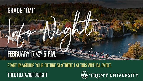 TrentU_Grade10-11_InfoNight_DigitalSign.