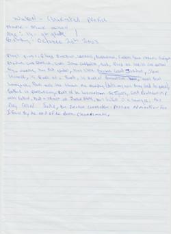 Watsons Character Notes