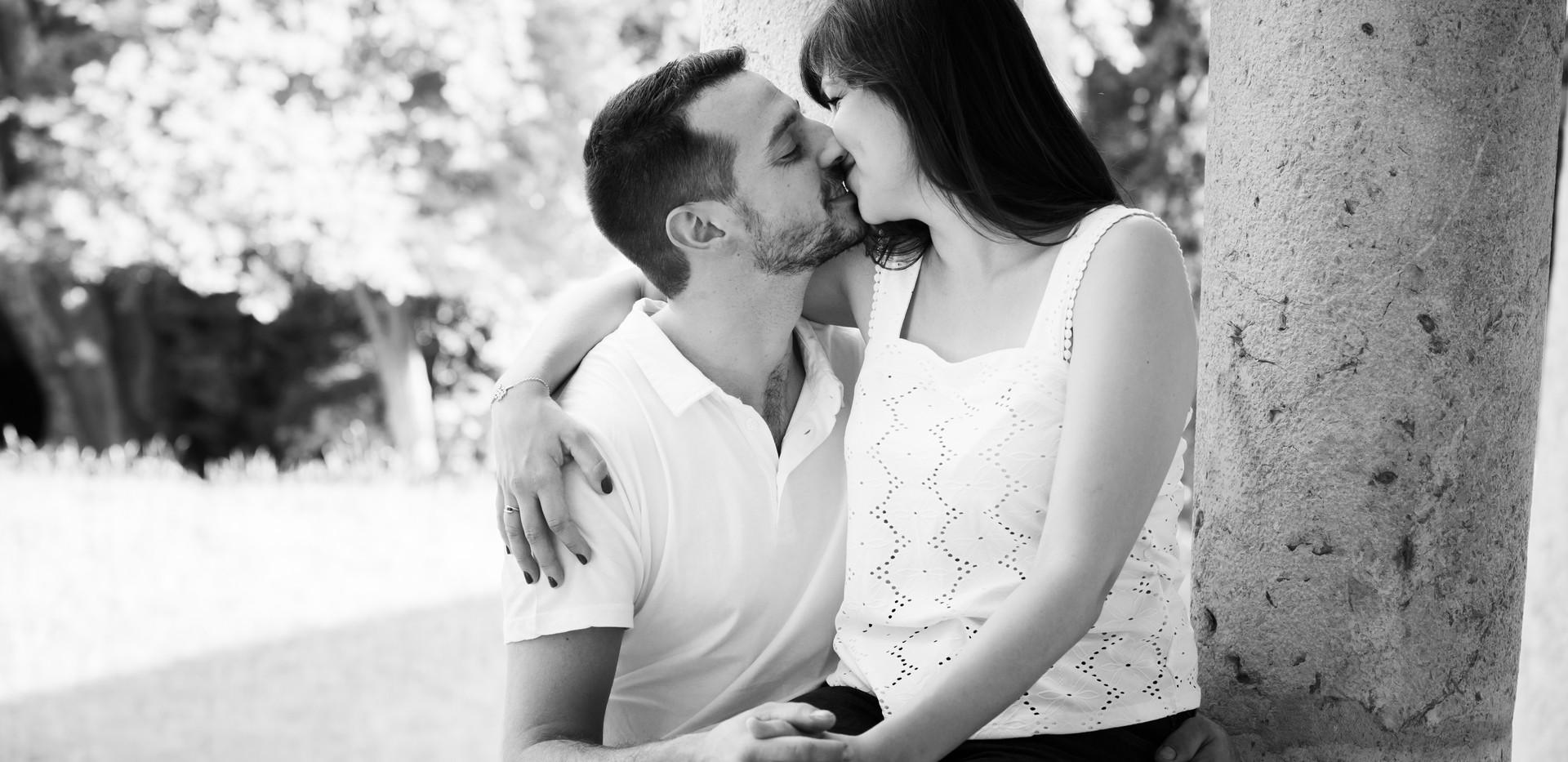 séance couple amour baiser
