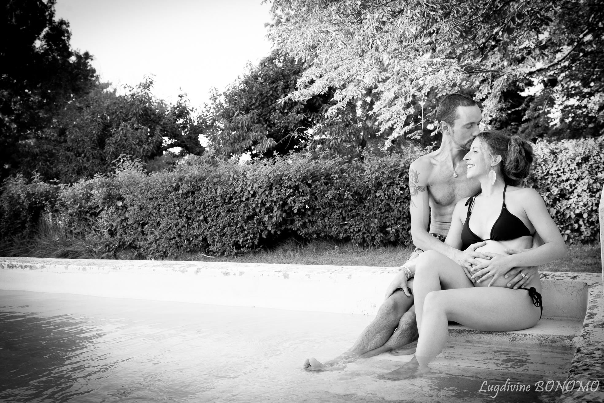 photographe grossesse piscine