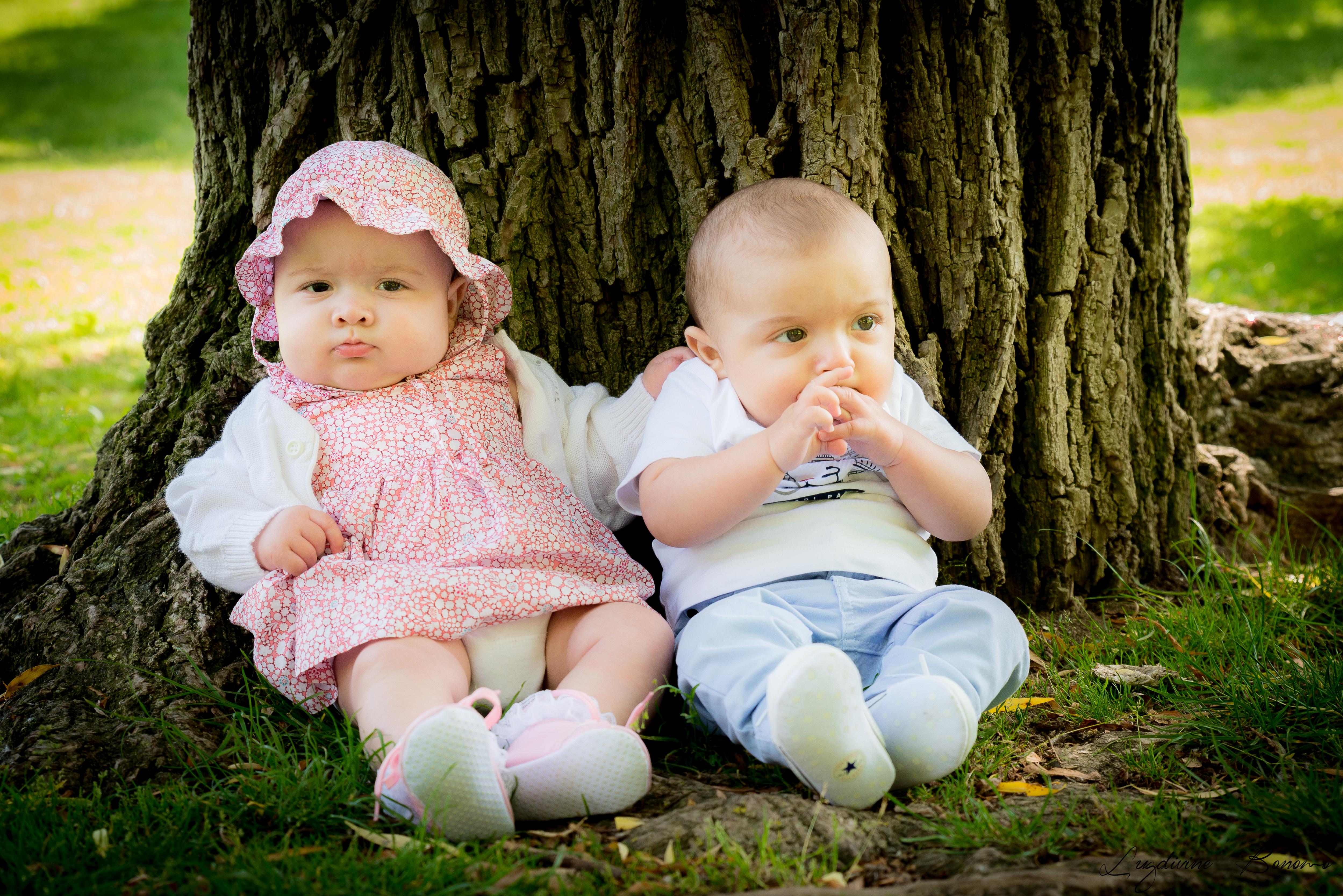 séance photo bébé 6 mois jardin