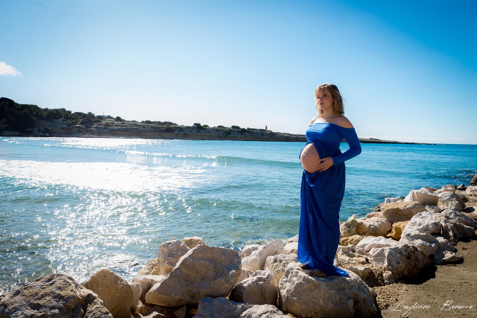 photographe extérieur nature maternité carry sausset bord de l'eau mer