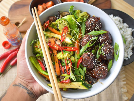 Sesame and Soy Glazed MEET® Meetballs
