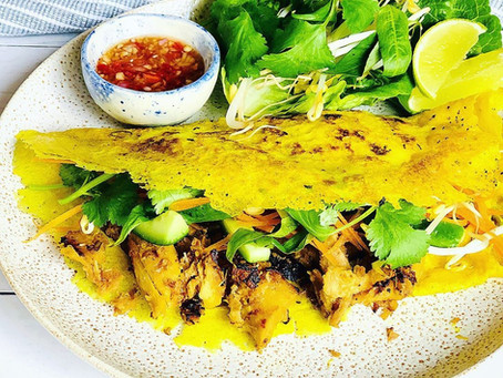 Banh Xeo (Crispy Vietnamese Coconut Pancakes)