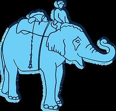 Elephant Indian Illustration