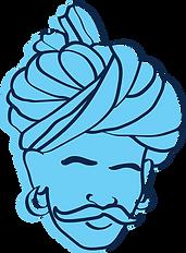 Turban illustration Indian