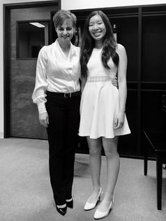 With Nicole at studio recital (2017)